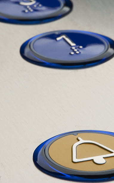 Ampia gamma di pulsantiere di piano e di cabina dal design moderno e funzionale